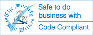 Society of Will Writers - Safe to do business with - Code compliant